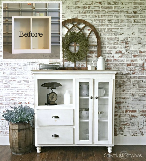 Cabinet Makeover Into Kitchen Sideboard