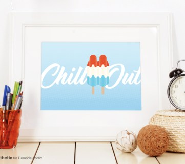 Free Summer Printable: Chill Out Popsicle Art