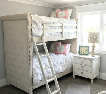 Chic Upholstered Bunk Beds #remodelaholic