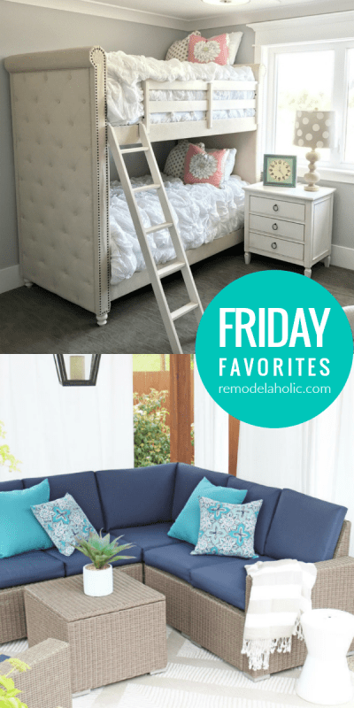 Friday Favorites, Luxe Upholstered Bunk Beds, Faux Brick And More #remodelaholic