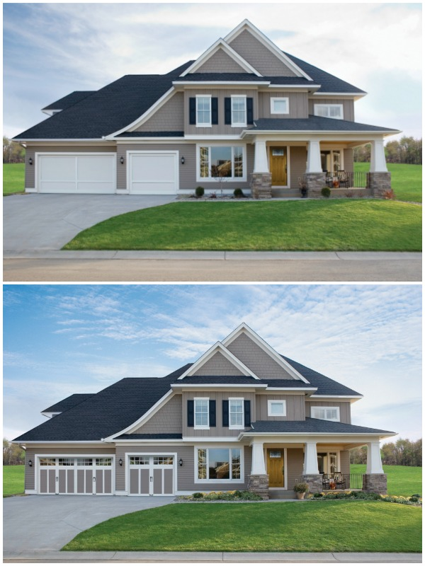 Increase Home Value By Adding Curb Appeal Upgrade Garage Door #remodelaholic