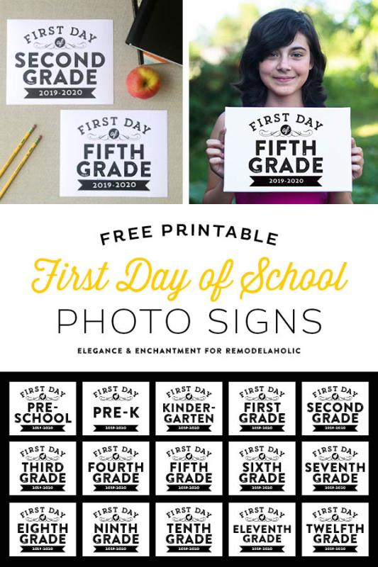 2019 2020 First Day Of School Signs Vertical