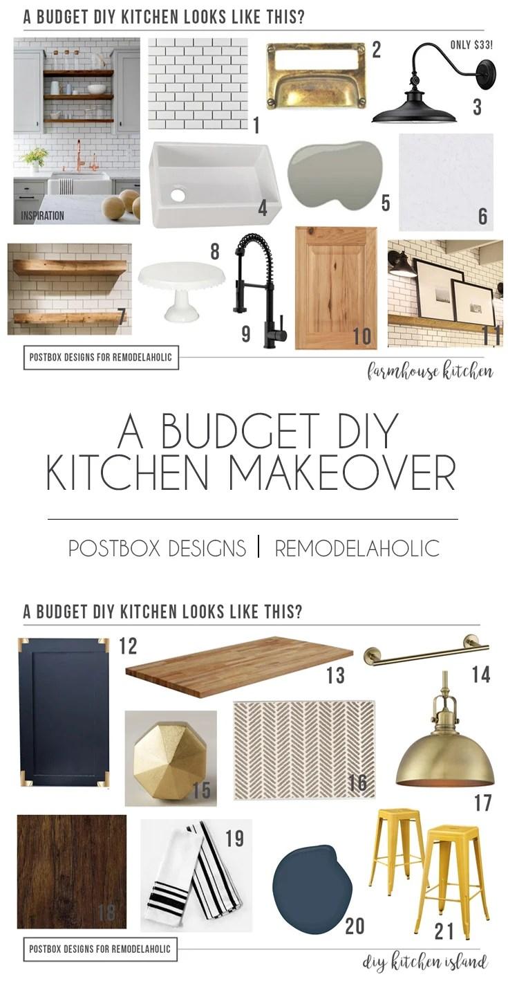 How To Design A Budget Farmhouse Kitchen + Island | Design The Farmhouse  Kitchen Of Your