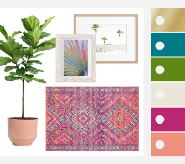 Colorful Fresh Tropical Decor Inspiration Ideas And Tips #remodelaholic Featured Image