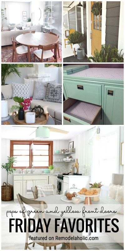 Friday Favorites: Pops of Green and Yellow Front Doors