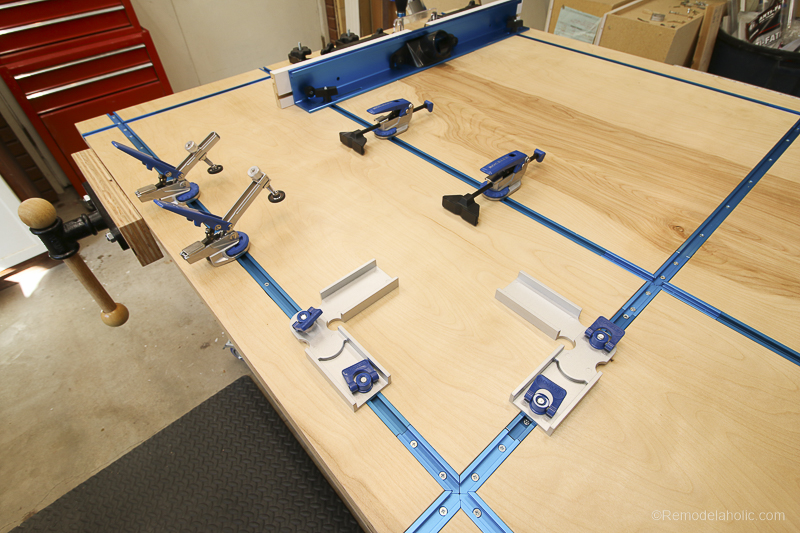 Rockler T-Track System for Clamping | DIY Router Table and Table Saw Workbench Building Plan #remodelaholic