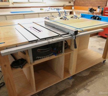 Table Saw Workbench Building Plans with Rockler T-Track System