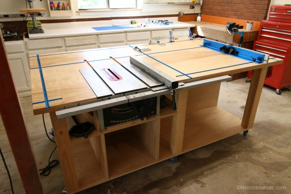 Table Saw Workbench @Remodelaholic 4