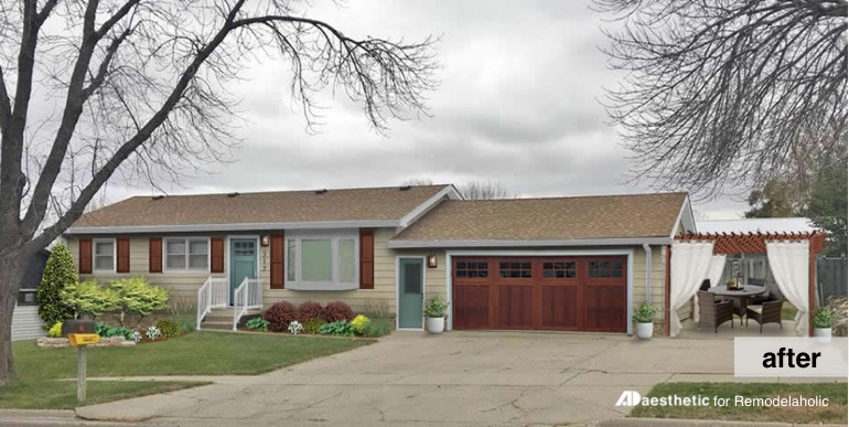 After | Reimagined Ranch Exterior and Curb Appeal Ideas
