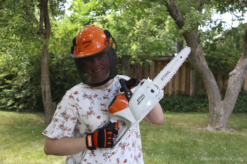 Stihl Chainsaw Safety Considerations @Remodelaholic 82