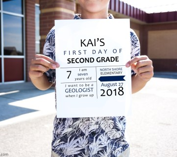 Printable First Day Of School Signs For Photos K 12 2018 2019 School Year #remodelaholic (5)