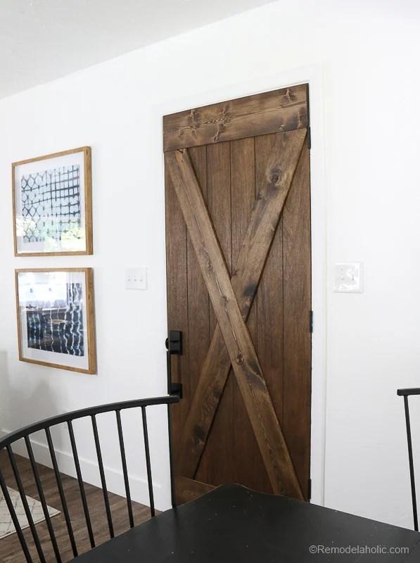 Barn Door From An Old Solid Core Door Makeover @Remodelaholic 63