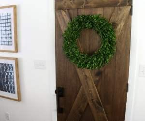 Barn Door From An Old Solid Core Door Makeover @Remodelaholic 66