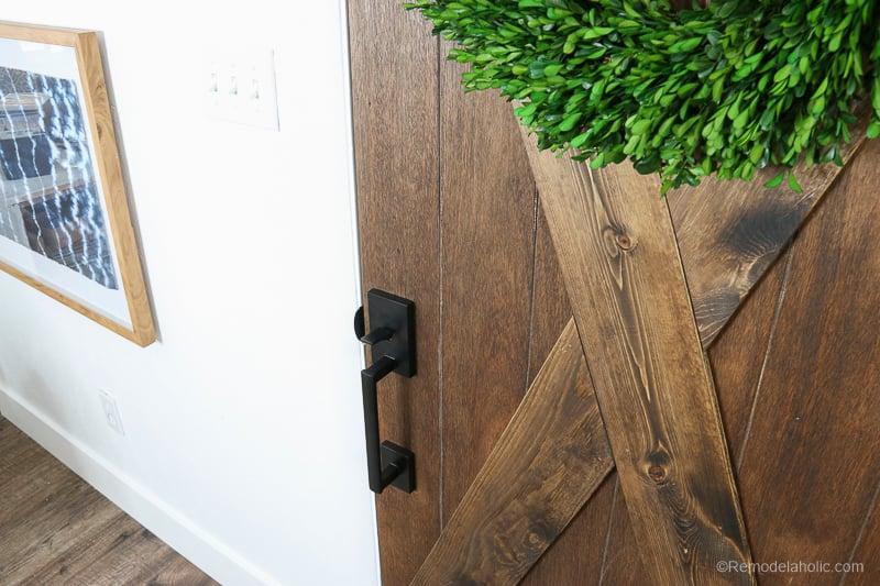 Barn Door From An Old Solid Core Door Makeover @Remodelaholic 67