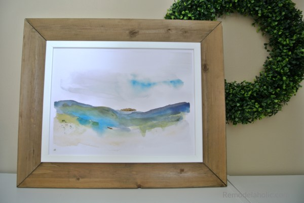 Remodelaholic Printable Abstract Watercolor Landscape Set Easy