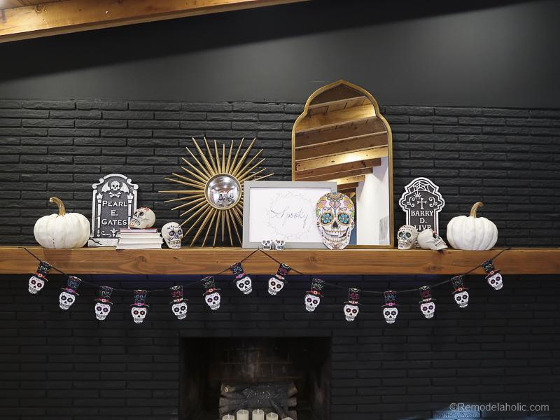 Dollar Store Halloween Hacks And Mantel Decor @Remodelaholic 63