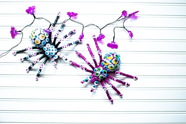 The How To Home Dollar Store Halloween Craft Googly Eyed Spiders (9 Of 21)