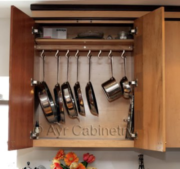 In Cabinet Pot Rack Inspiration
