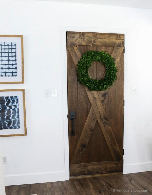 Barn Door From An Old Solid Core Door Makeover @Remodelaholic 65