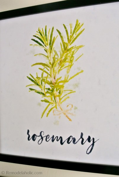 Free Rosemary Kitchen Herb Printable Set Of 4 Watercolor Herb Art Prints Digital Download #remodelaholic