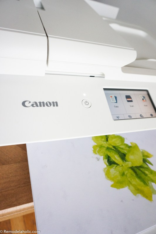 Printing Watercolor Herb Kitchen Art Set On Canon PIXMA TS9521C Crafting Printer #remodelaholic