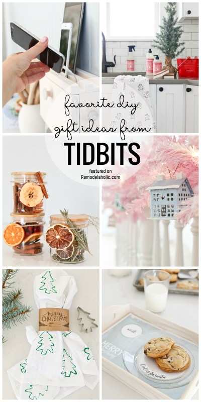 Favorite DIY Gift Ideas From TIDBITS Featured On Remodelaholic.com