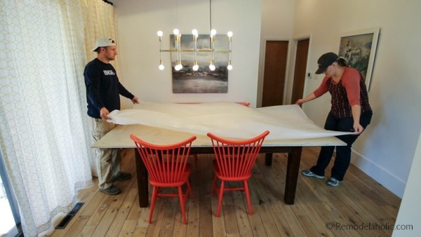 Hack A Bigger Dining Table For Thanksgiving Under $50 @Remodelaholic 6