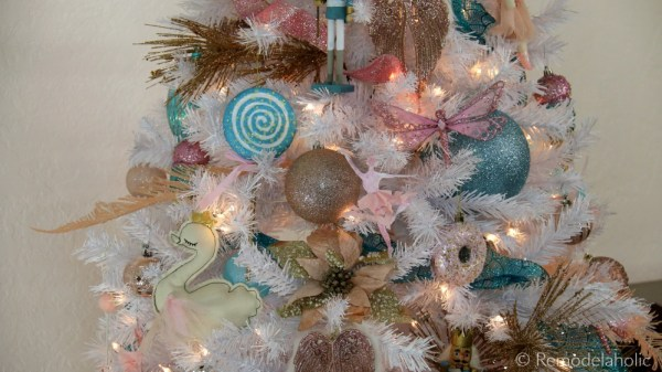 Cassity Remodelaholic Blue Pink And Gold Nutcracker Christmas Tree Decor