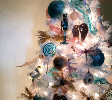 Cassity Remodelaholic Nutcracker Themed Christmas Tree In Blue Gold And Pink On A White Tree #remodelaholic