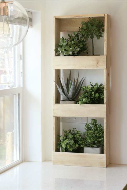 Easy To Build Rustic Wood Wall Bin As Herb Garden For Plants Remodelaholic