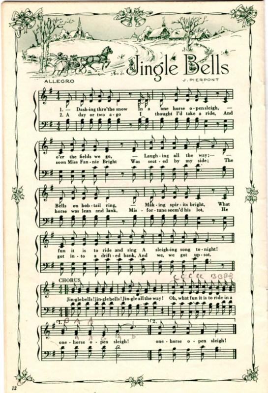 25 Free Printable Vintage Christmas Sheet Music