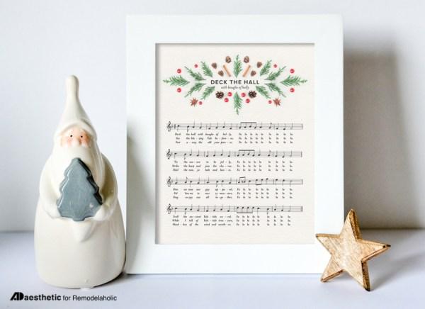 Free Chritmas Printable Deck The Hall Holiday Sheet Music