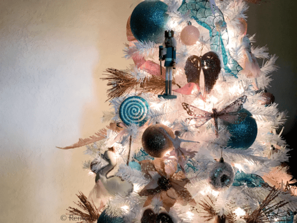 Cassity Remodelaholic Nutcracker Themed Christmas Tree In Blue Gold And Pink On A White Tree Remodelaholic 768x576