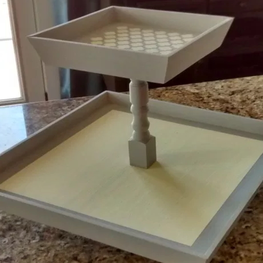 How To Build A Square Two Tiered Lazy Susan Tray