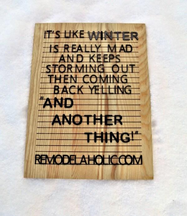 Winter Mad Meme Remodelaholic.com