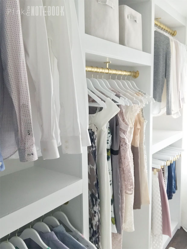 Remodelaholic Diy Custom Walk In Closet Organizer For A