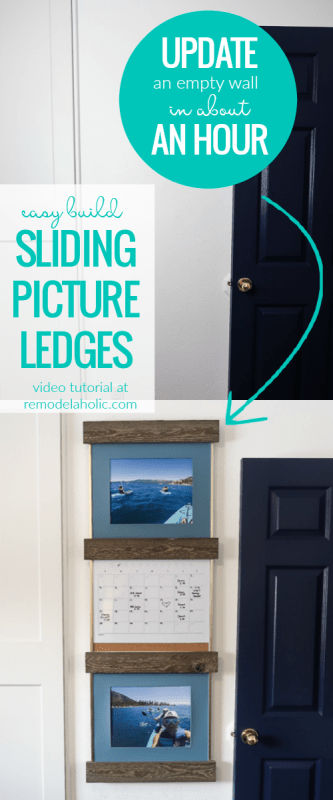 Easy Diy Sliding Picture Ledge Shelves For Simple Art Gallery Wall #remodelaholic