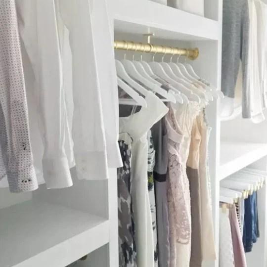 DIY Custom Walk In Closet Organizer For A Builder Basic Closet