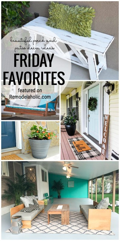 Dress Up Your Porch For An Inviting And Welcoming Entry. Beautiful Porch And Patio Decor Ideas Featured In Friday Favorites On Remodelaholic.com