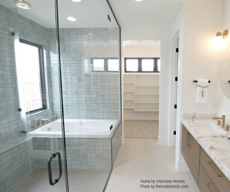 Full Glass Wall In Bathroom, Bathtub Inside Enclosure Interstate Homes (70).ed