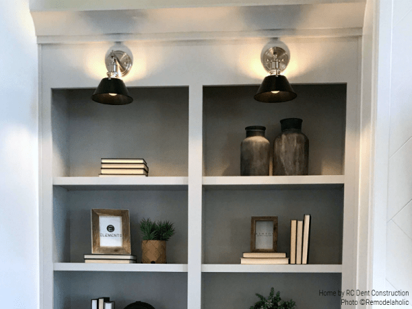Gallery Lighting Highlights The Simple Styling Of Built In Shelving RC Dent Construction And Remedy Design 2018 Utah Valley Parade Of Homes Featured On Remodelaholic