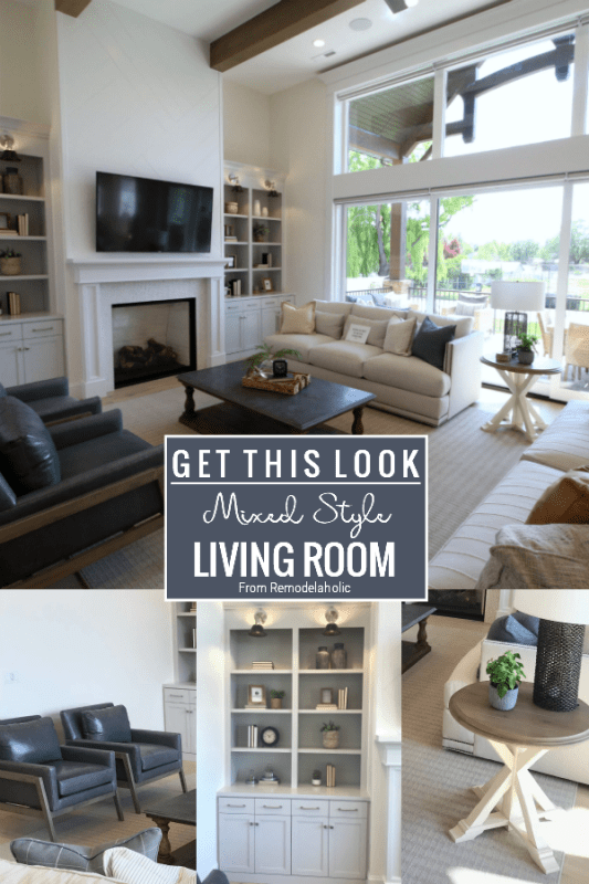 Come Learn How To Mix Design Styles In Your Living Room From Remodelaholic