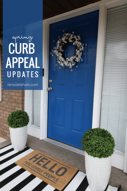 Easy Spring Curb Appeal Updates For A Front Porch #remodelaholic