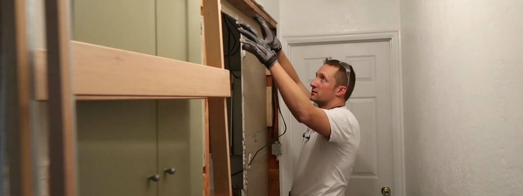The Easy Way to Install a Pocket Door Frame in an Existing Wall