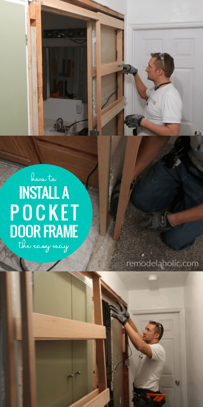How To Install A Pocket Door Frame In An Existing Wall The Easy Way #remodelaholic