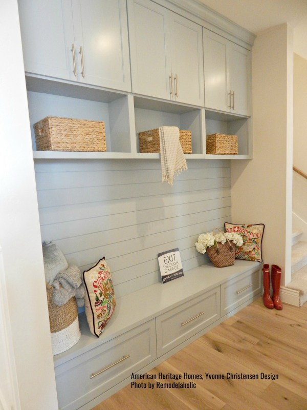 Light Blue Cabinets With Drawers In Laundry Room American Heritage Homes (8).ed