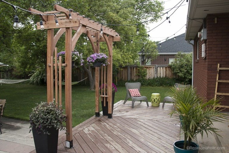 Remodelaholic   How to Build a Garden Arbor for a Backyard ...
