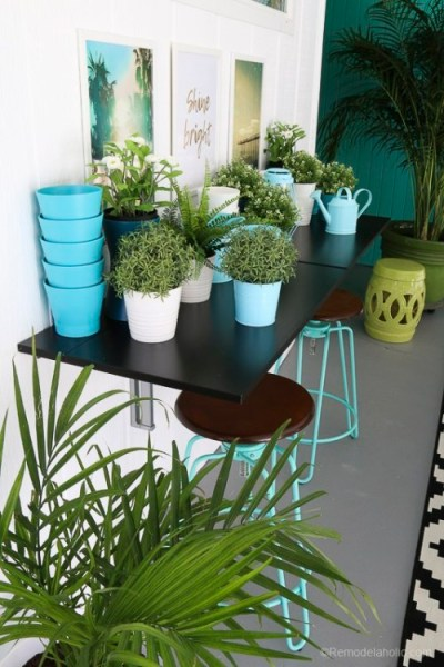 Outdoor Dining Room With IKEA Furniture @Remodelaholic 11 1