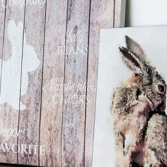 Personalized Easter Bunny Printable Set For Easy Spring Decorating