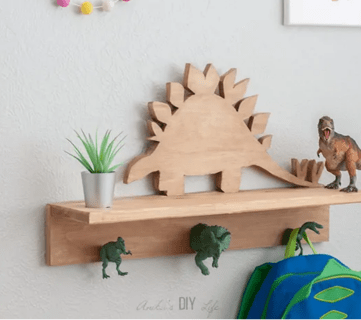 Dino Shelf Anika's DIY Life